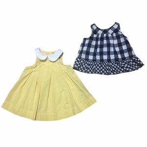Baby Gap dress bundle navy checkered polka dots